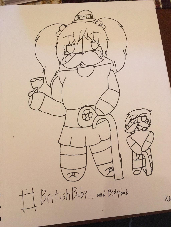 Chibi British Baby...and Bidybab XD by ShadAmyfangirl129