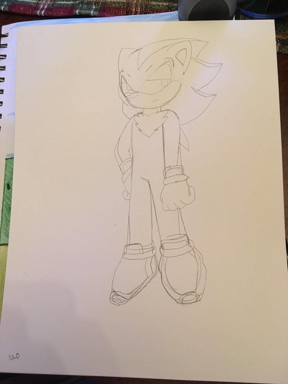 Shadow the Hedgehog (sketch)  by ShadAmyfangirl129