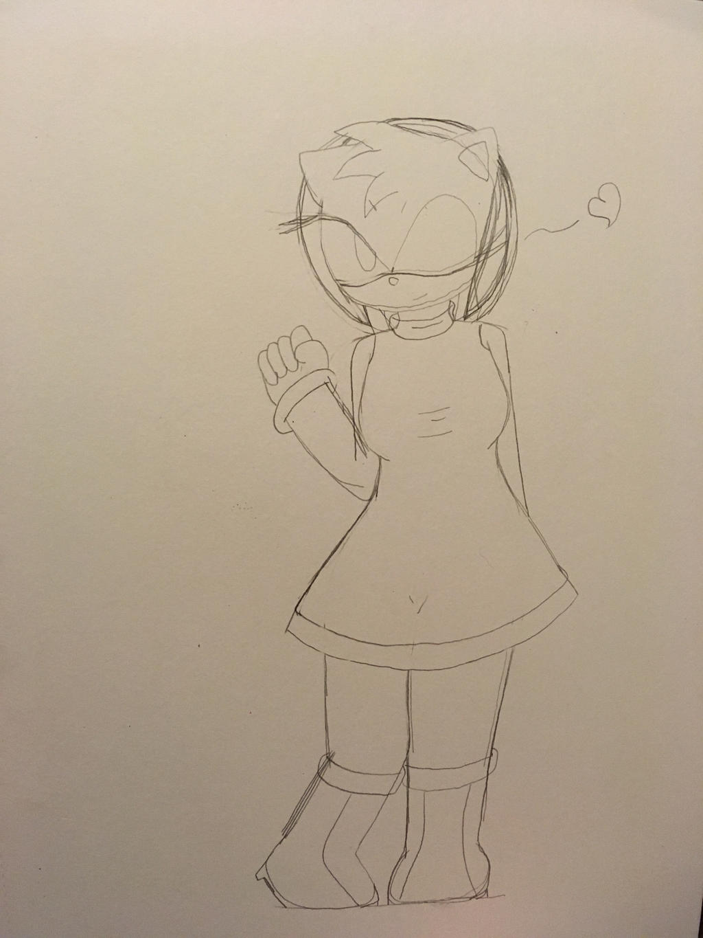 Amy Rose (Sketch)  by ShadAmyfangirl129