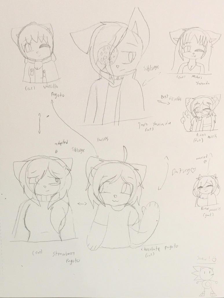 Furry OCs sketch dump by ShadAmyfangirl129