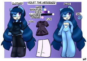 Violet the Hedgehog Ref Sheet + Profile by ShadAmyfangirl129