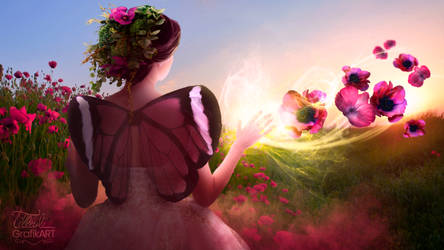 Floral creation of the flower fairy