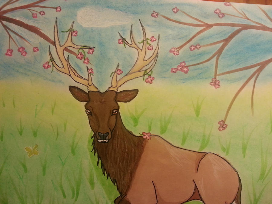 flower elk by Camaru