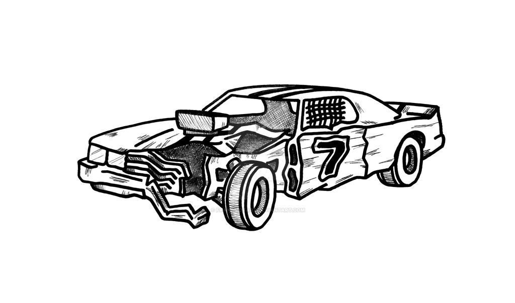 Car Crash Coloring Pages : Demolition derby car by francmotart on deviantart