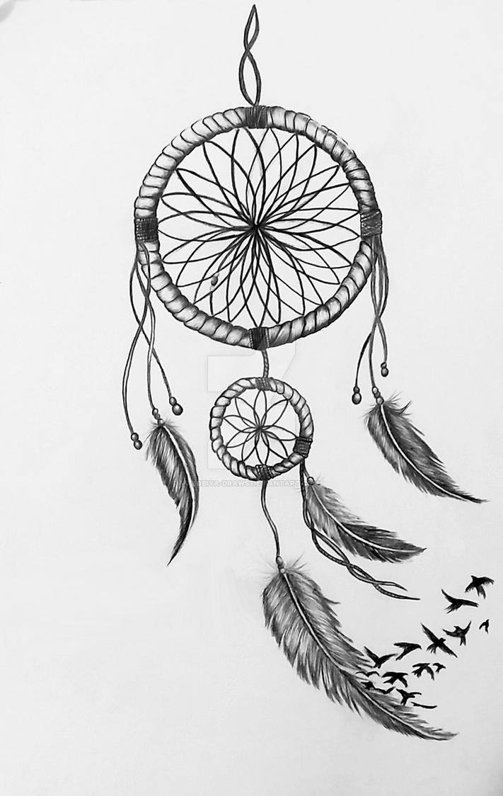 картинка ловец снов на белом фоне