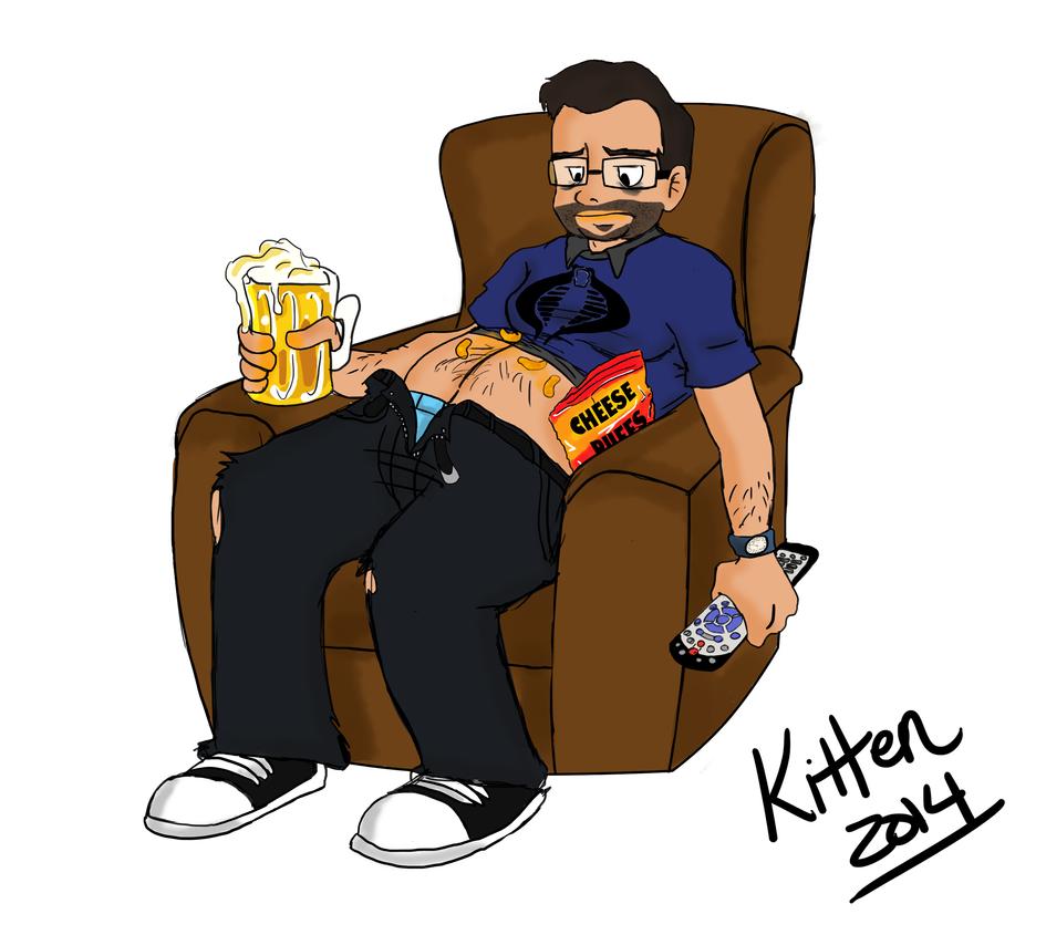 Chad Lewis Self Portrait by Konohakitten