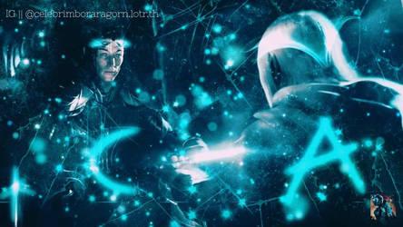 Celebrimbor with Annatar (Sauron)  by celebrimbor3