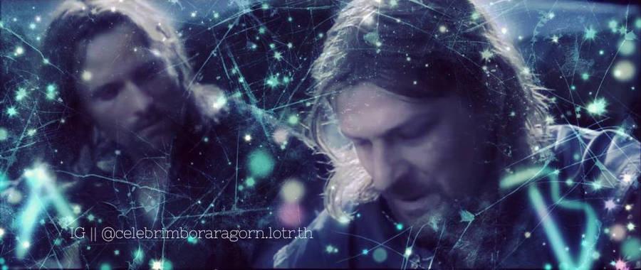 Aragorn and Boromir  by celebrimbor3