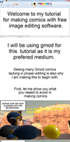 Tutorial - How to make comics with free software.