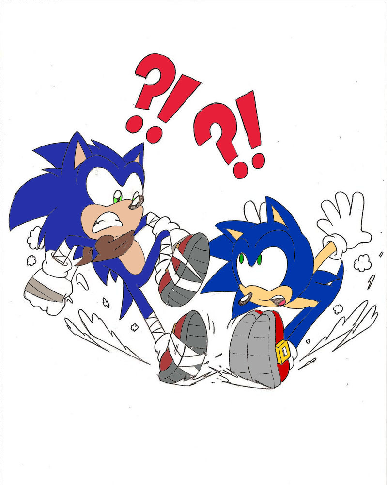 classic sonic and modern meet again fast