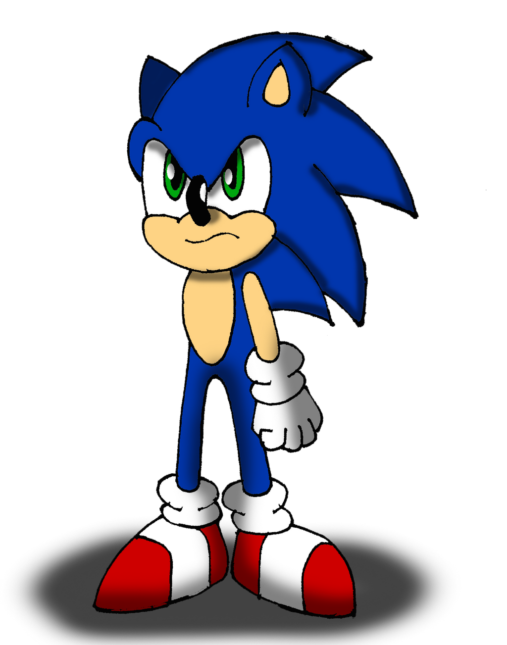 Sonic The Hedgehog Is Upset By Sonicdude645 On Deviantart
