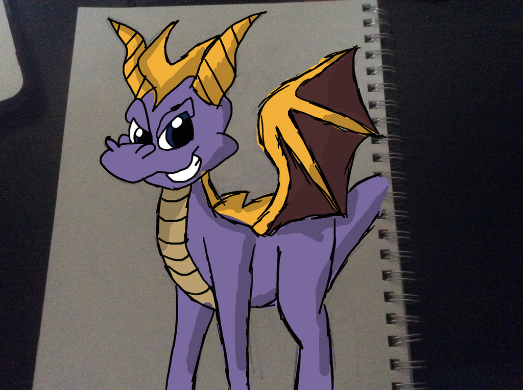 Spyro Doodle Colored by Sonicdude645