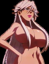Haruka Gracia Naked Huge Boobs Covered Vector by Sonicdude645