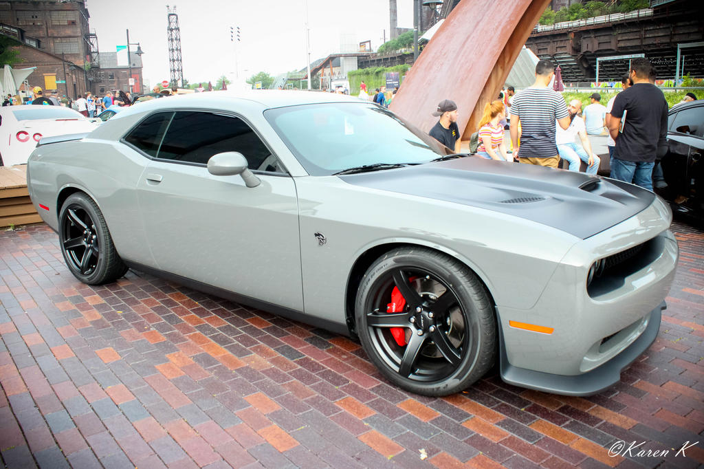 Black and Grey Dodge Challenger SRT Hellcat #2 by