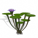 Spore Building - Blue Egyptian water lily PNG by Tote-Meistarinn