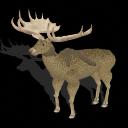Spore creature - Irish Elk buck PNG by Tote-Meistarinn