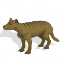 Spore creature - Thylacine PNG by Tote-Meistarinn