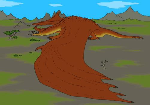 Dragon basking