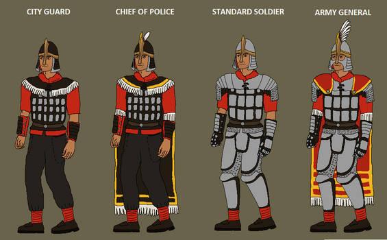 Military uniforms of Shi Kerashi
