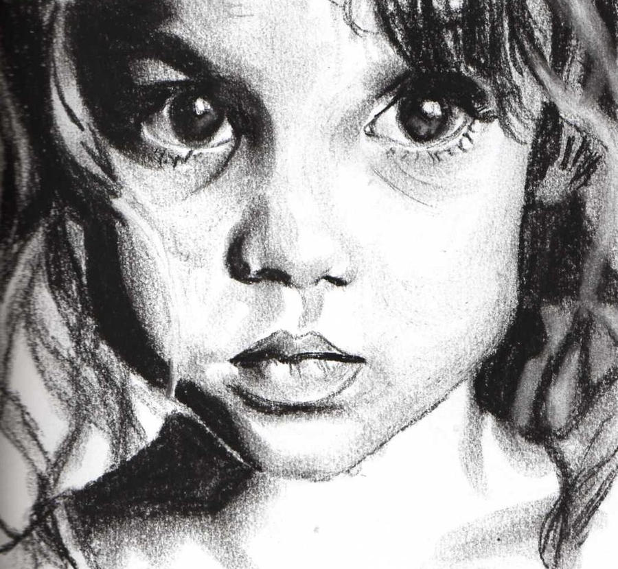 Charcoal Portrait 7 by elvinpixie