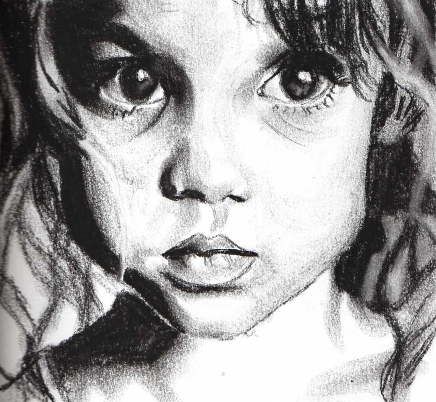 Charcoal Portrait 7 by elvinpixie