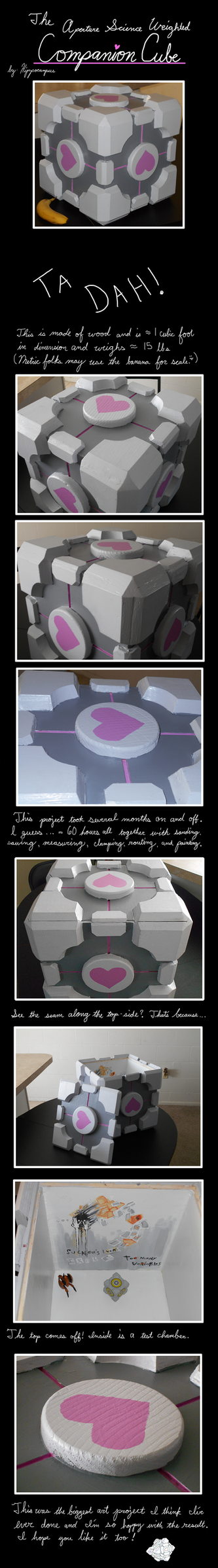 The Aperture Science Weighted Companion Cube by A-Hippocampus