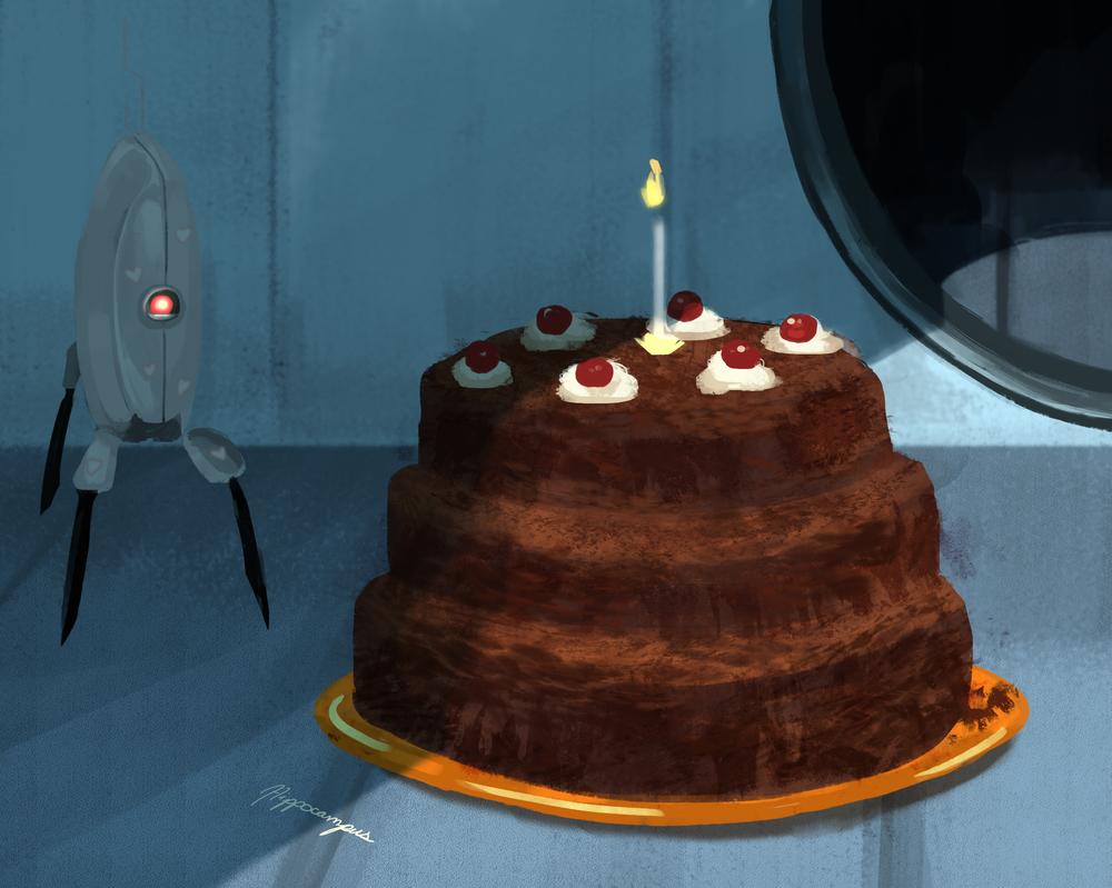 Portal Birthday Cake By A Hippocampus On Deviantart