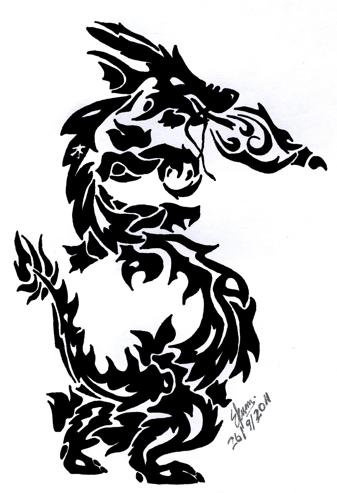 asian dragon tattoo designexsuicune on deviantart