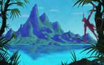 A tropical island