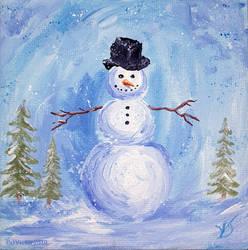 Miniature snowman 043_001