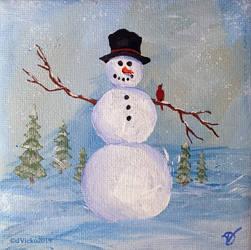 Miniature snowman 043_003