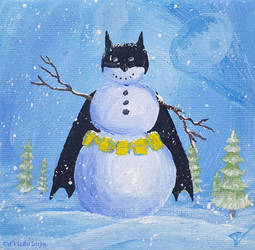 Miniature snowman 43_004 - BATMAN
