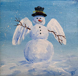 Miniature snowman 45_005 - ANGEL