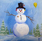 Miniature snowman 45_006 - CLOWN