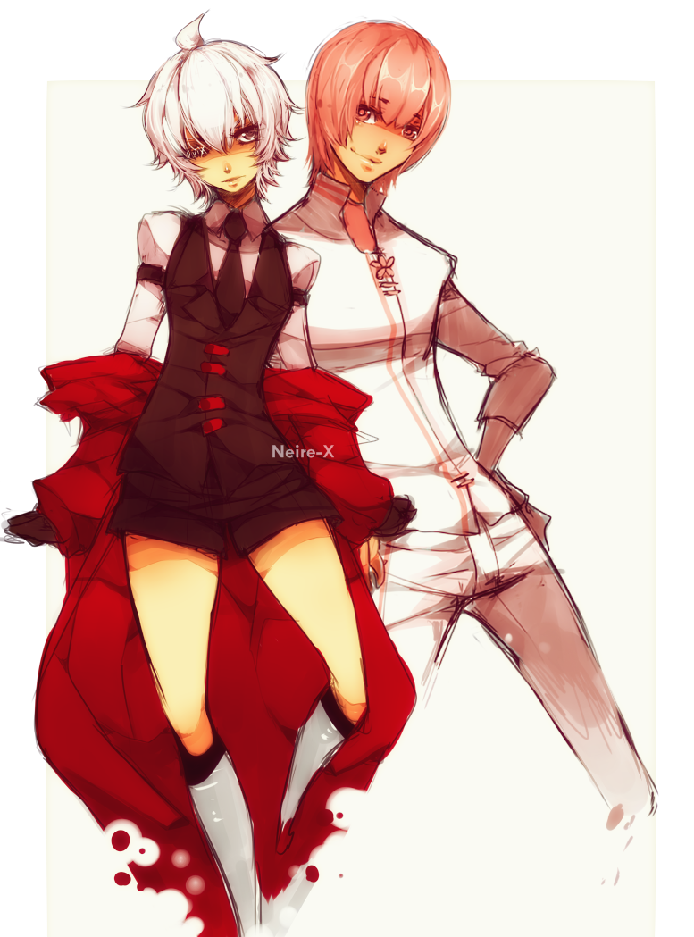 Genderbend : Neire and Cherry by Neire-X