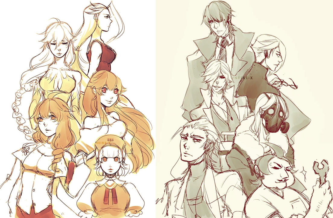 Characters in Neire's story by Neire-X