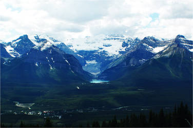 Lake Louise: from a distance.