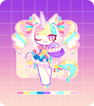 [CLOSED] OTA - MASCOT ADOPT: RAINBOW DAYDREAM by Bme-Cutesyart