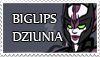 Biglips Dziunia stamp by oswo