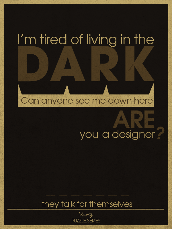 Puzzle Series  Dark by RenzGFX Provoke Your Graphic Design Inspiration In Typography And Text Art