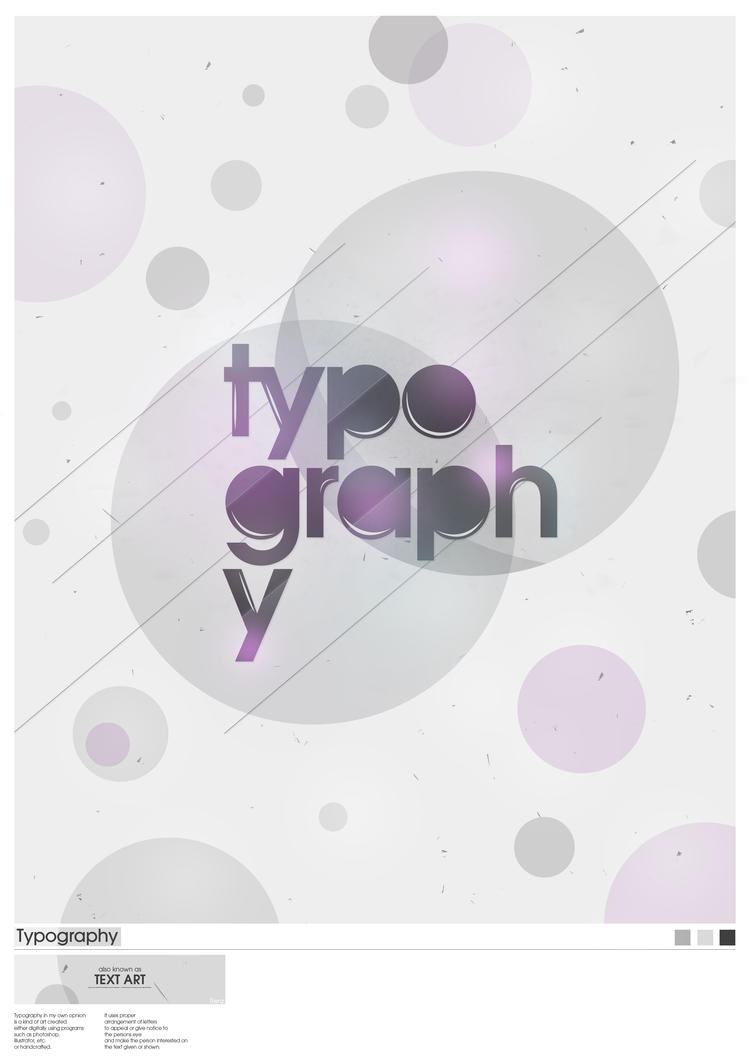 Typography Poster by RenzGFX I Love Typo #8: My Illicit Love for Typography and Text Art