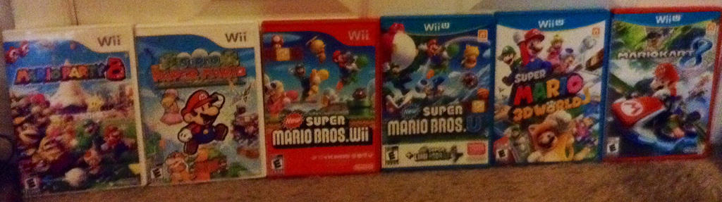 All Wii U Games : All my mario games for the wii and u c by