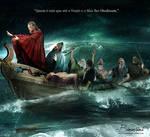 Jesus calms the storm (Jesus acalma a tempestade) by Bimartins