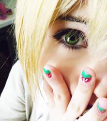 Tsukasa's eye by NyappyMisako