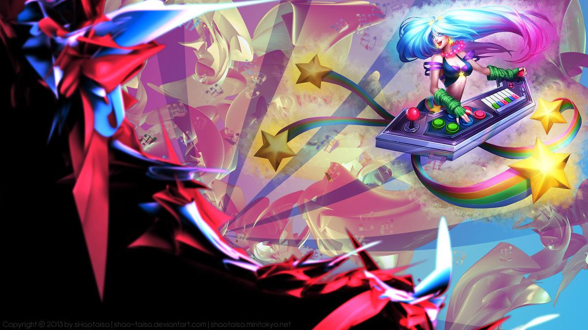Sona-Beautiful Girl-piano-champion-League of Legends-Fan ...  Arcade Sona Wallpaper