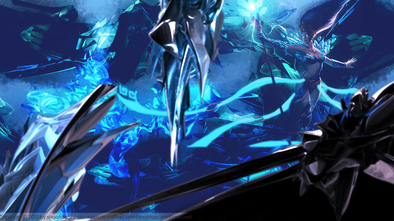 lol wallpaper frost queen janna by shao taisa on
