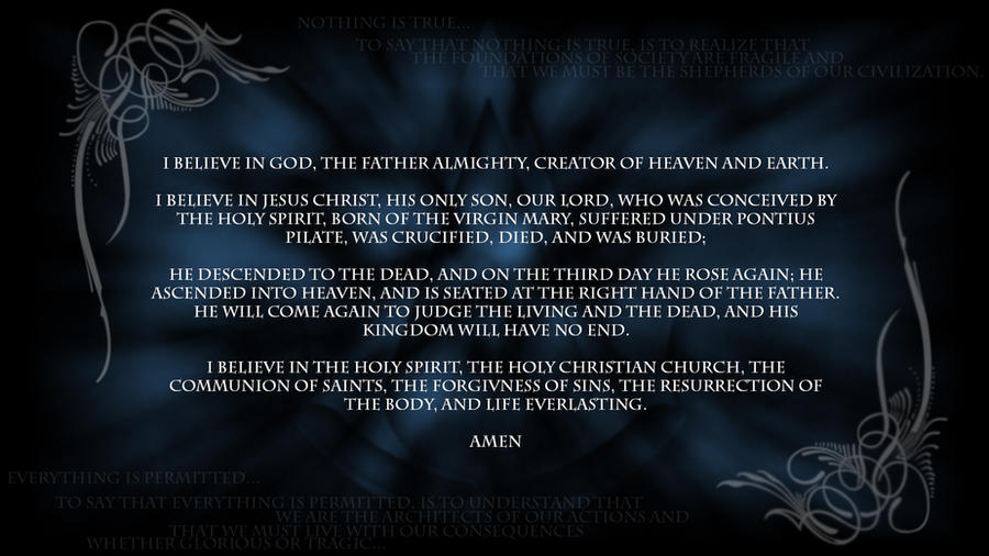 Apostles' Creed by questguardian on DeviantArt