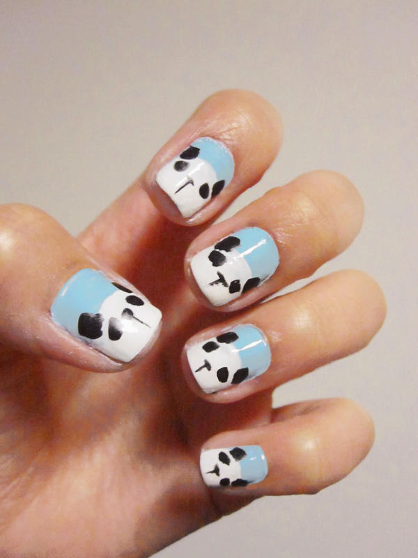 Panda Nails by casscc