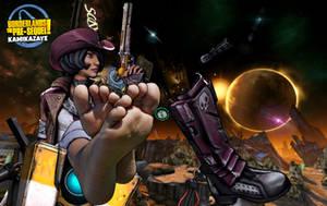 Borderlands the Pre-Sequel: Nisha feet by Kamikazaye