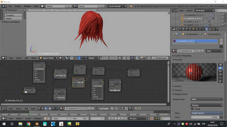 Xps in blender hair node